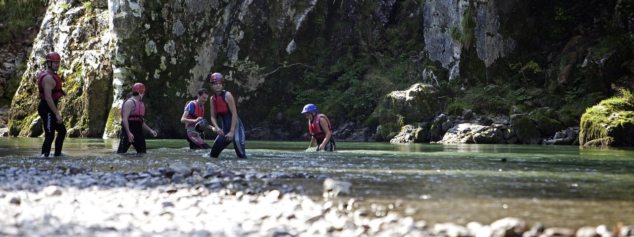 Canyoning, Klobenstein, © Tirol Werbung / Uhlig Bernd