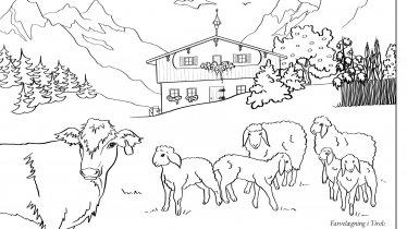 Ferie på en gård i bjergene
